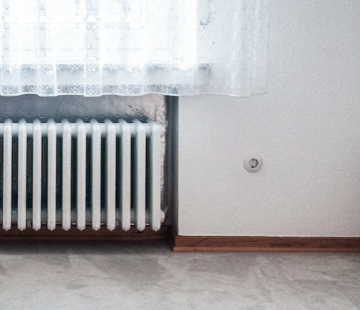central heating in winter
