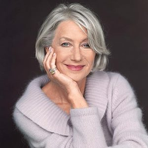 Helen Mirren embraces her greys