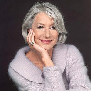 Helen Mirren embraces her greys