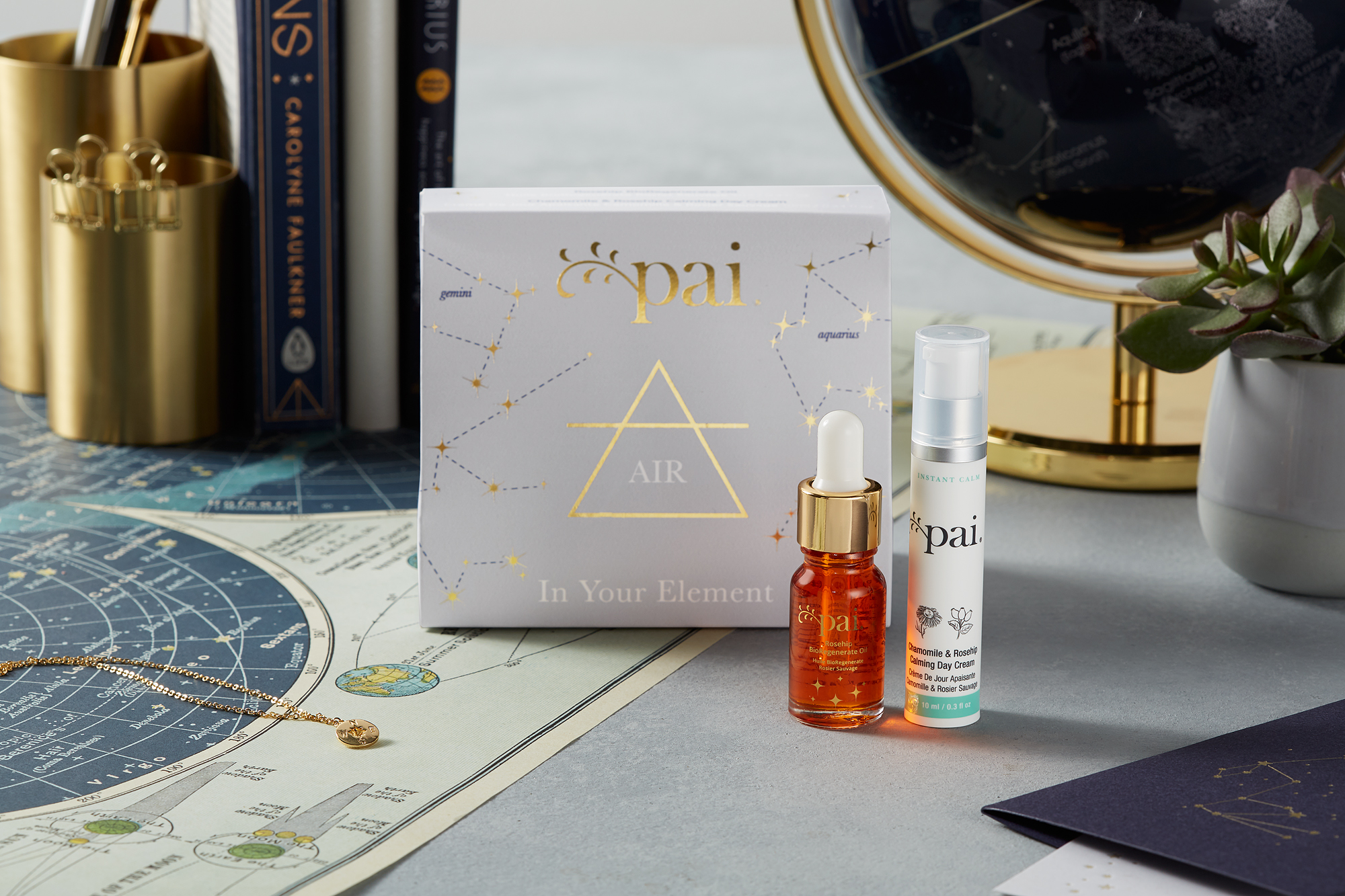 Air sign astrology holiday gift set