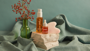 Pai Skincare Light Work Rosehip Cleansing Oil, Rosehip BioRegenerate Oil and Rose Quartz Gua Sha
